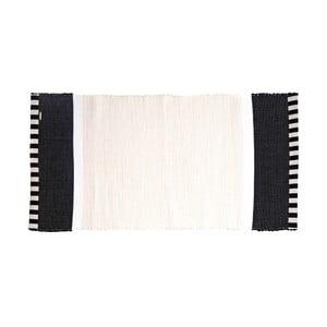Koberec Lona Stripes 130x65 cm, biely/čierny