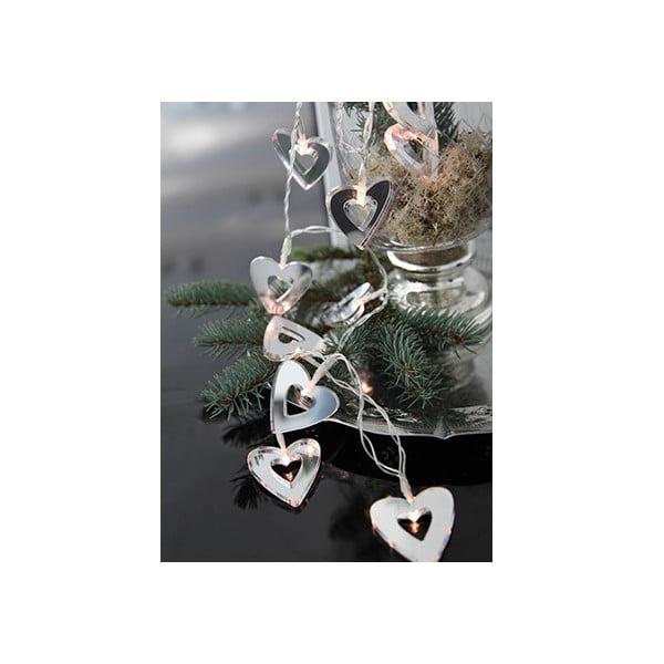Svietiaca LED dekorácia Best Seasons Mirror Hearts