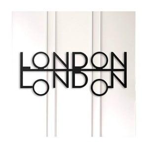 Čierna kovová nástenná dekorácia London