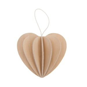 Skladacia pohľadnica Heart Natural, 6.8 cm