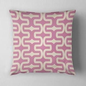 Vankúš Pink Pipes, 43x43 cm