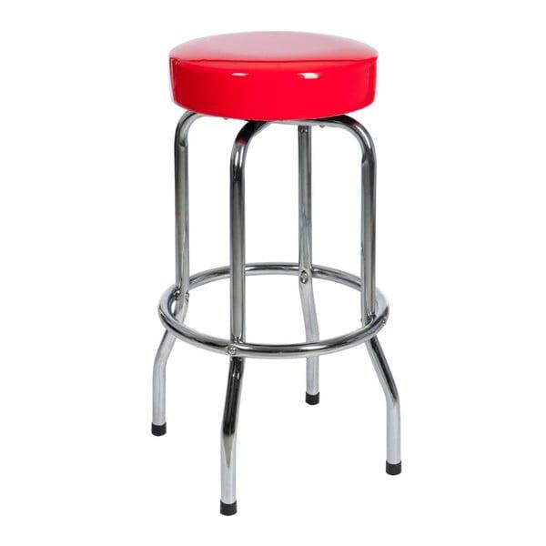 Stolička Bar Metal Red, 47x47x75 cm