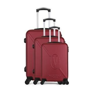 Sada 3 vínových cestovných kufrov na kolieskach VERTIGO Cadenas Integre Moues