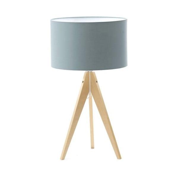Svetlomodrá stolová lampa 4room Artist, breza, Ø 33 cm