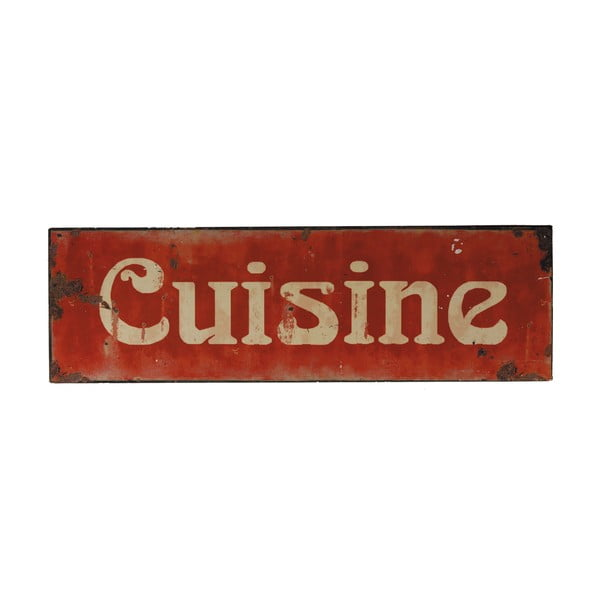Plechová ceduľa Antic Line Cuisine, 49 × 15 cm