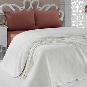 Prikrývka na posteľ Pique Cream, 200x240 cm