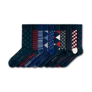 Sada 7 párov unisex ponožiek Black&Parker London Hampton Court, veľkosť 37 - 43