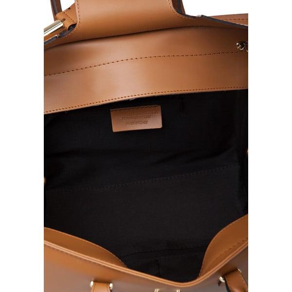 Kožená kabelka Markese 5156 Cognac