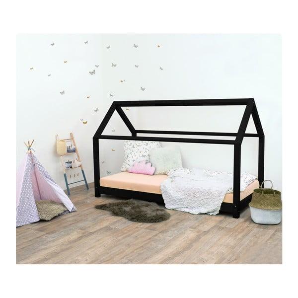 Čierna detská posteľ bez bočníc zo smrekového dreva Benlemi Tery, 90×200 cm