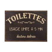 Kovová ceduľa na toaletu Antic Line Usage Limite