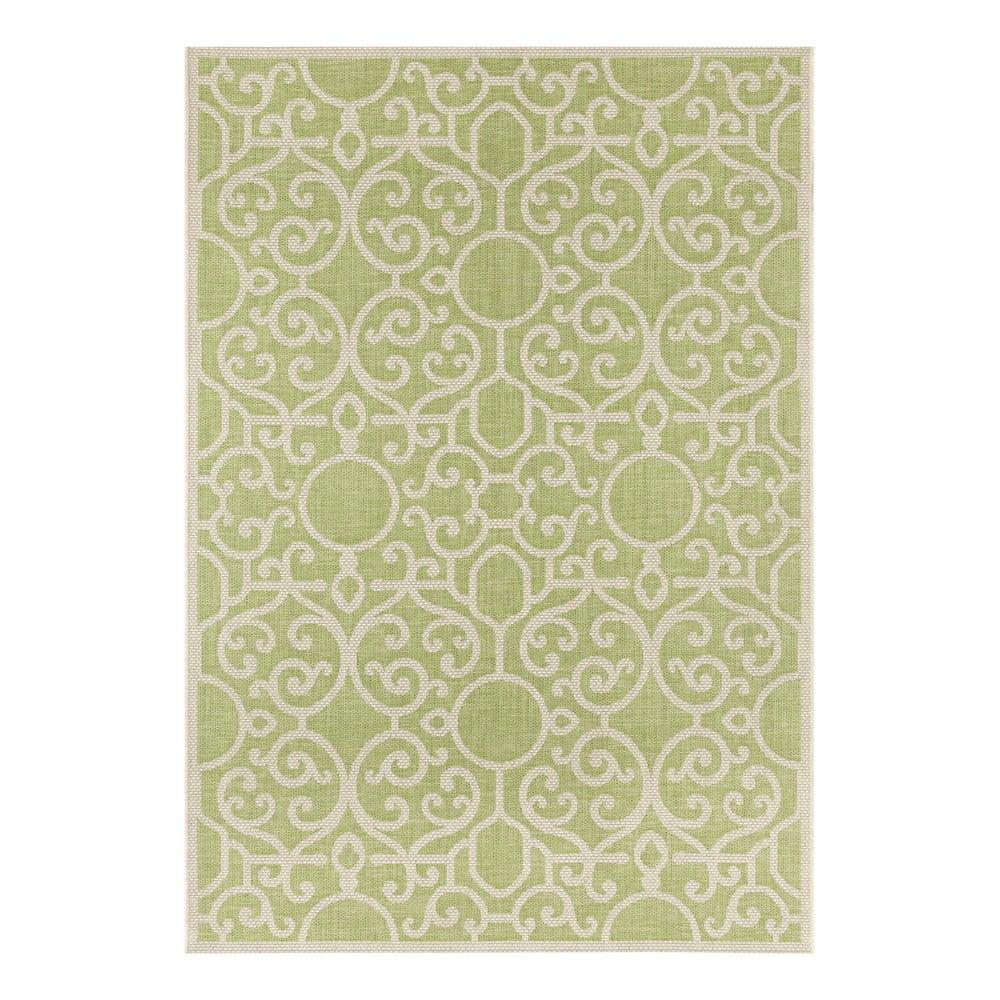 Zeleno-béžový vonkajší koberec Bougari Nebo, 160 x 230 cm