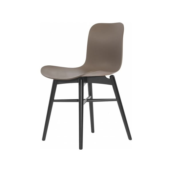 Hnedá jedálenská stolička z masívneho bukového dreva NORR11 Langue Stained