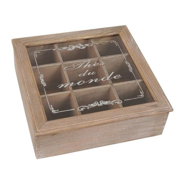 Drevená krabica Thés du Monde