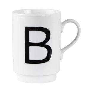 Porcelánový písmenkový hrnček B