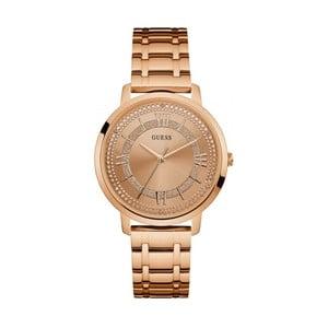 Dámske hodinky v ružovozlatej farbe s antikoro remienkom Guess W0933L3