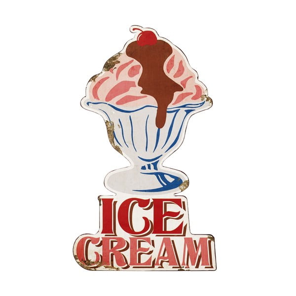 Plechová ceduľa Ice Cream, 53x31 cm