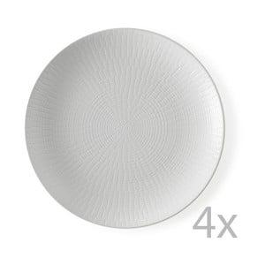 Sada 4 dezertných tanierov Granaglie Blanc, 21 cm