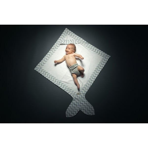 Detský uterák Baby Bites Fish Blue,80x80cm