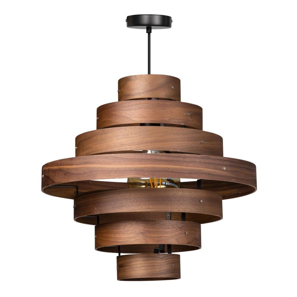 Drevené závesné svietidlo ETH Walnut Ovalis