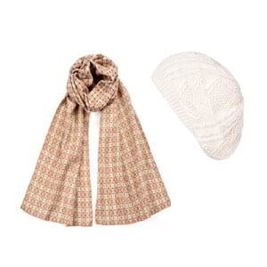 Biela čiapka so šálom Lavaii Elegant