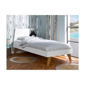 Detská biela posteľ JUNIIOR Provence Oskar Junior, 90 x 200 cm