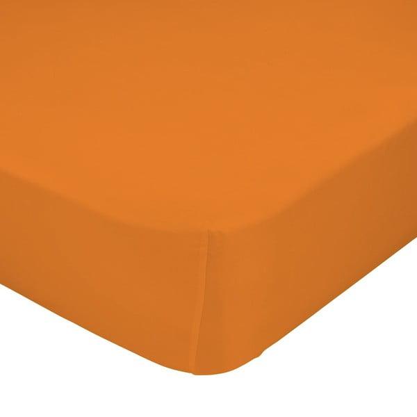 Oranžové elastické prestieradlo Happynois, 60x120 cm