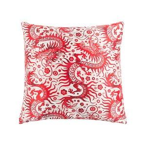 Červeno-biely vankúš White Label Joan, 45 x 45 cm