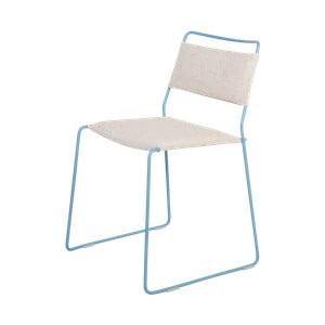 Biela stolička s modrou konštrukciou OK Design One Wire