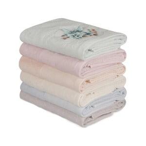 Sada 6 bavlnených uterákov Daireli Lunida, 50×90 cm