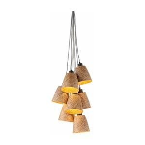 Závesné svietidlo z drevenej drviny pre 7 žiaroviek Good&Mojo Sequoia