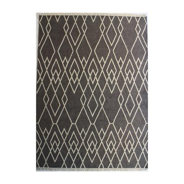 Vlnený koberec Omo, 200x300 cm, sivý
