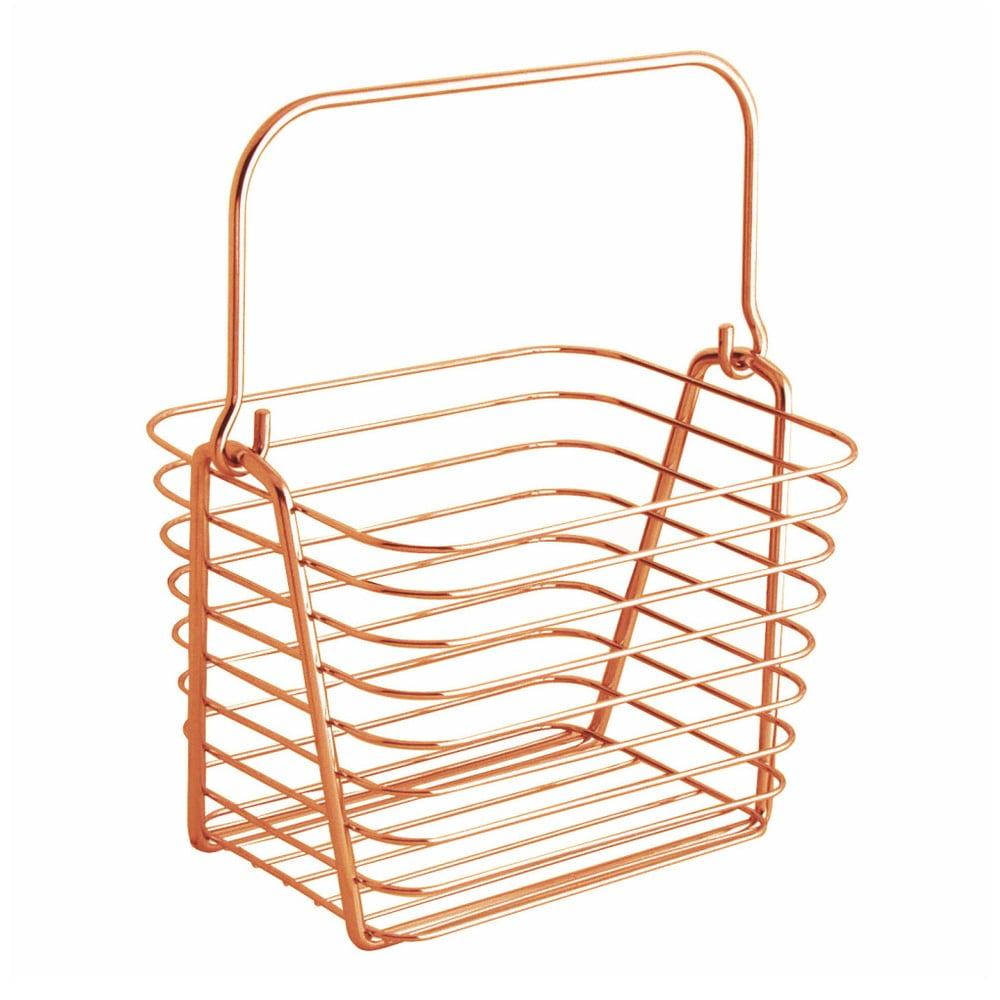 Oranžový kovový závesný košík InterDesign, 21,5 x 19 cm
