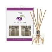 Sada 2 aromatických difuzérov s vôňou levandule Copenhagen Candles, 40 ml