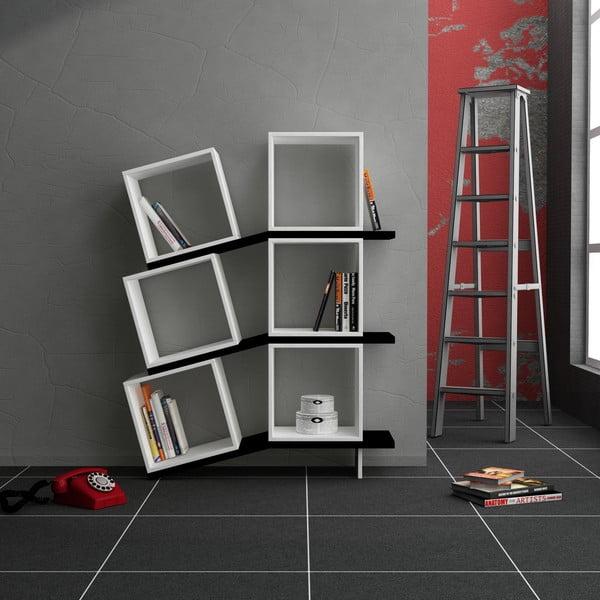 Knižnica Balance, biela/čierna