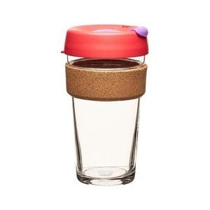 Cestovný hrnček s viečkom KeepCup Brew Cork Edition Sumac, 454 ml