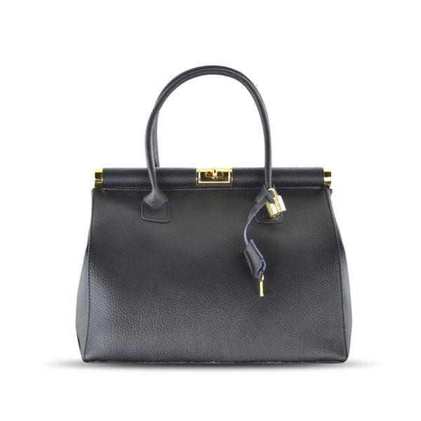 Kožená kabelka Carla, čierna