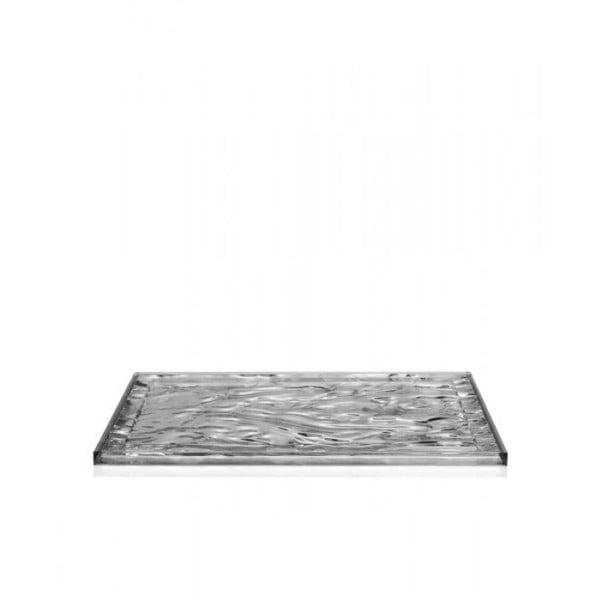 Tácka Kartell Dune Chrome, 38x55 cm