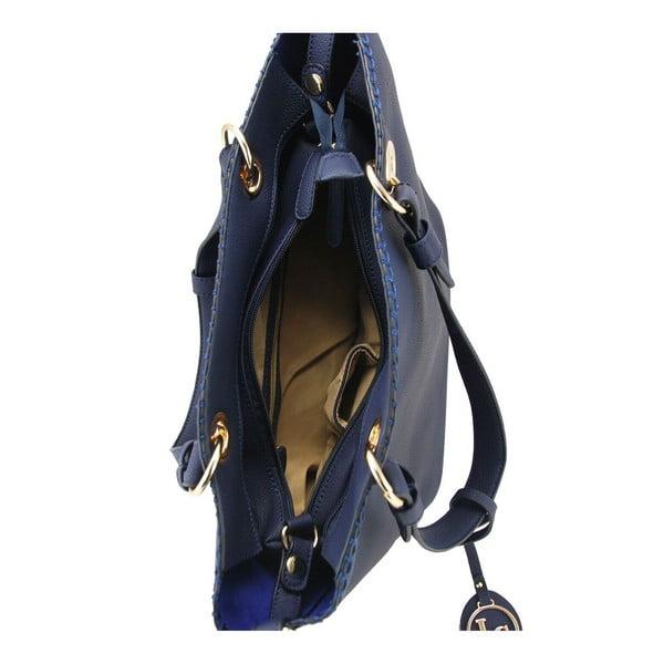 Kožená kabelka Ginny Navy