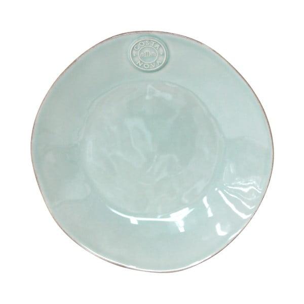 Tyrkysový keramický dezertný tanier Ego Dekor Nova, Ø21cm