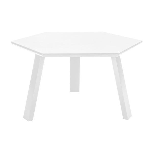 Konferenčný stolík Hexagon Pearl White, 70x37x70 cm