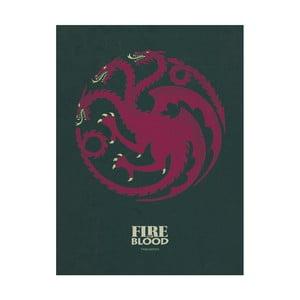Obraz Pyramid International Game of Thrones Targaryen, 60 × 80 cm