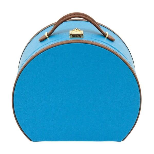 Modrá šperkovnica/kozmetický kufrík Friedrich Lederwaren Ascot