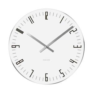 Biele hodiny Present Time Slim Index