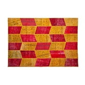 Vlnený koberec Allmode Yellow Red, 200x140 cm
