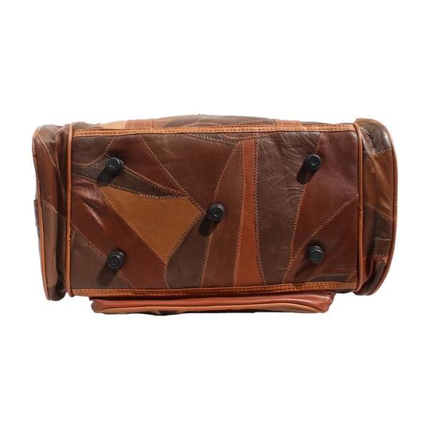 Hnedá kožená taška Strada