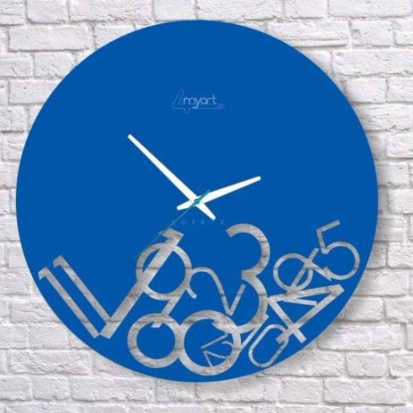 Nástenné hodiny Blue Confusion