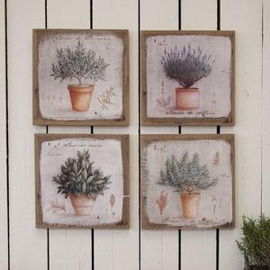 Nástenná dekorácia Herbs, 4 ks