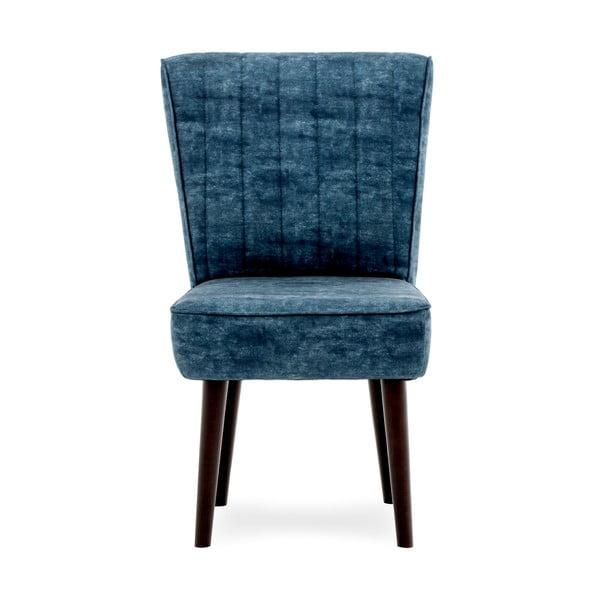 Tmavomodrá čalúnená stolička Vivonita Leila