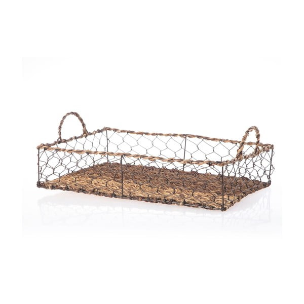 Prútený podnos Wicker Rectangle, 44 cm