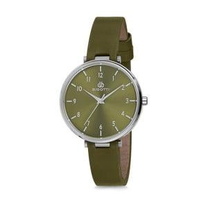 Zelené dámske hodinky s koženým remienkom Bigotti Milano Anette